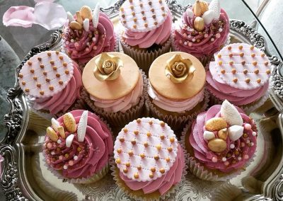 Baby Shower Cupcakes - Pink & Gold