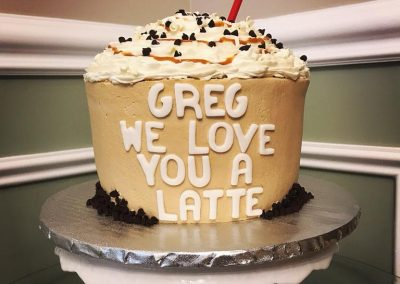 We Love You A Latte Cake